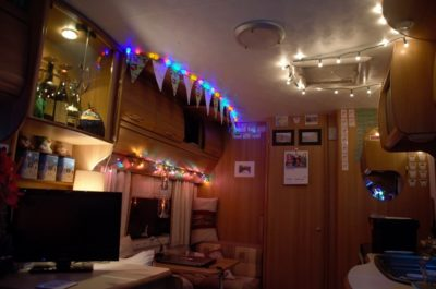 caravan Christmas lights