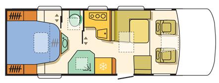 Adria Sonic Supreme 710 SBC Floor Plan