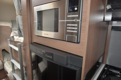 Buccaneer Galera microwave and fridge
