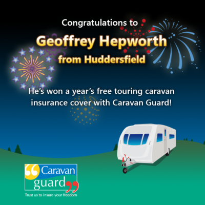 one year free caravan insurance winner with Caravan Guard