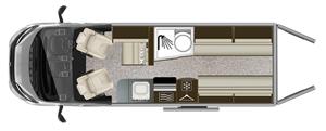 Auto-Trail V Line SE 636 Floor Plan