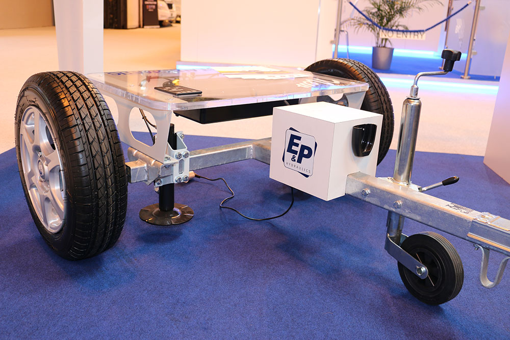 E&P Levelsystem for automatically levelling the caravan