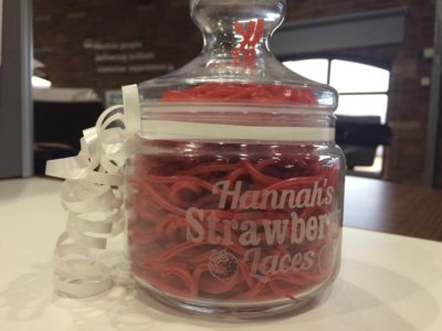 Strawberry laces for Paralympian Hannah Cockroft