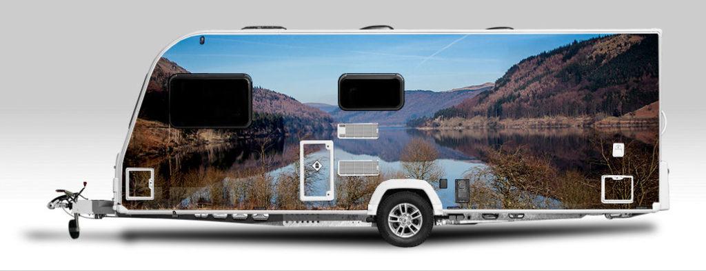 Landscape caravan wrap