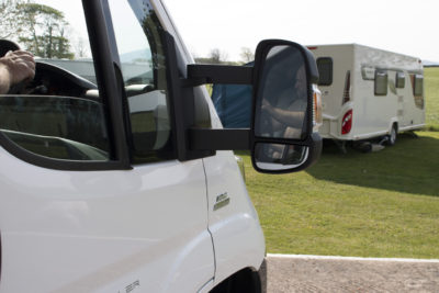 Motorhome-rear view mirror