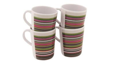 Blossom Mug Set 4 pcs. Magnolia Red