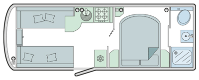 Bailey Pegasus Brindisi floor plan