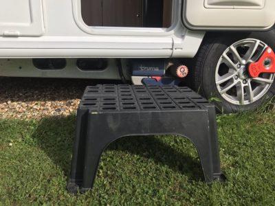 Caravan step accessory