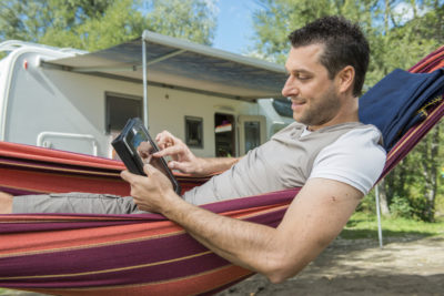 Using a tablet mobile device when camping - Wi-FI