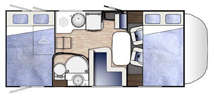 Benimar Mileo 301 floor plan
