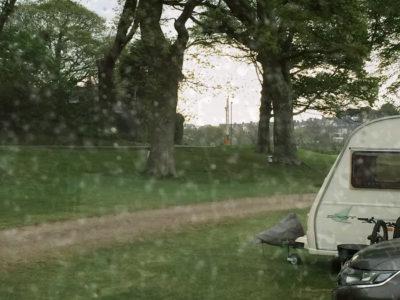 rainy day in a caravan