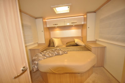 Burstner motorhome bedroom