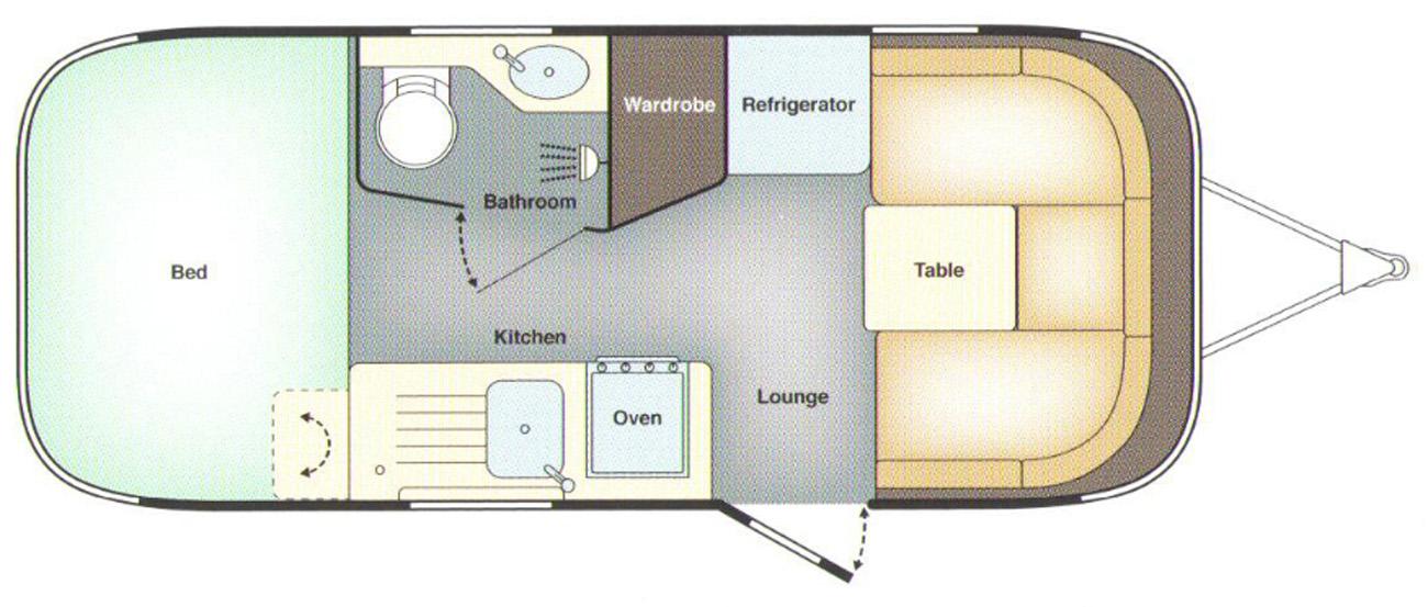 Airstream Missouri floor plan