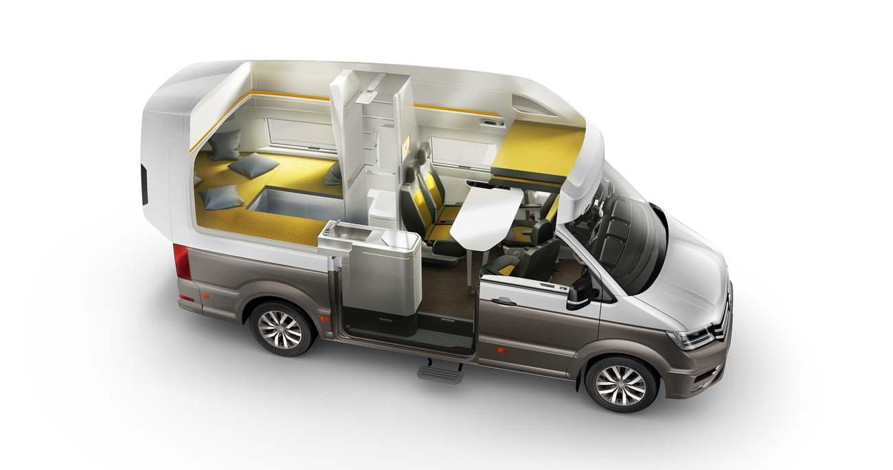 Volkswagen California XXL cutaway floor plan