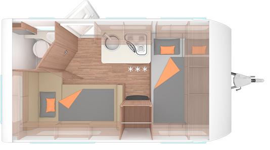 Weinsberg CaraOne 390 Floor Plan