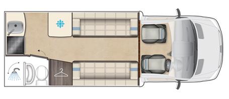 Auto-Sleeper Bourton Floor Plan