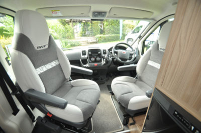 Swift Select 122 Motorhome Cab seating