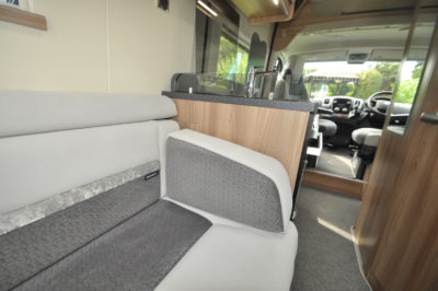 Swift Select 122 motorhome lounge seating