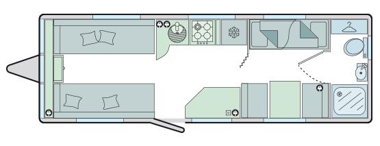 Bailey Pegasus GT70 Palermo floor plan