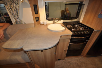 Bailey Pegasus GT70 Palermo kitchen