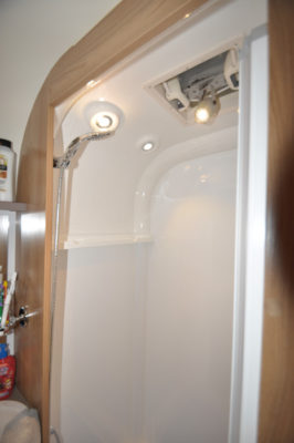 Bailey Pegasus GT70 Palermo shower