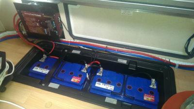 Batteries keeping warm inside a motorhome