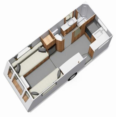 Elddis Affinity 462 floor plan