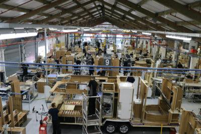 Bailey caravans construction factory
