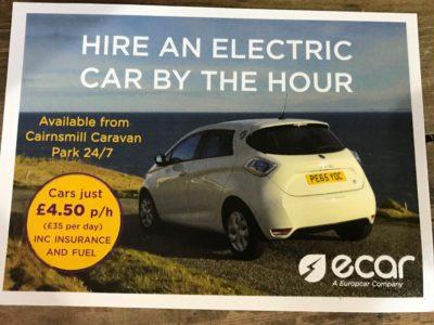 hire an ecar postcard