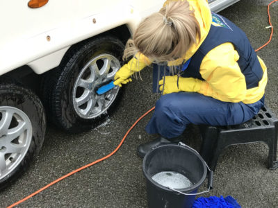 Caravan cleaning - wheels
