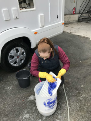Motorhome cleaning - fridge grills