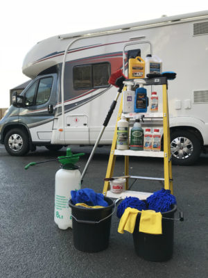 Motorhome cleaning products and kit