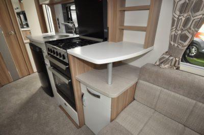 Swift Elegance 530 Kitchen from side