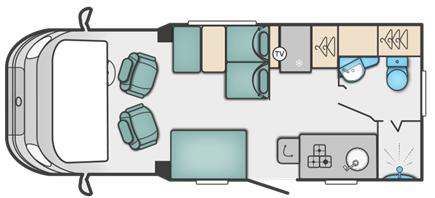 Swift Escape 604 floor plan