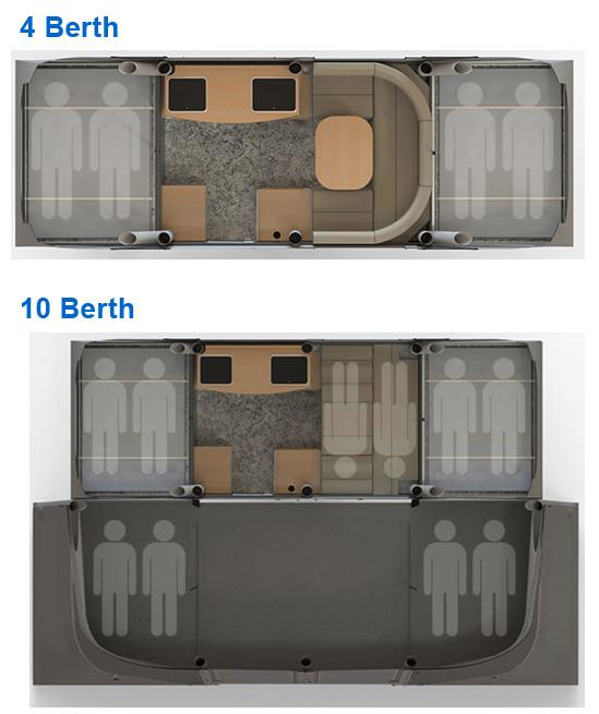 Opus Air Folding Camper Floor Plan
