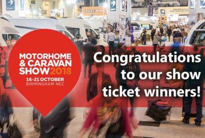 2018 Motorhome and Caravan Show ticket winners! thumbnail
